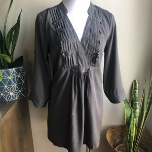 MOTHERHOOD Maternity Gray Pleated Blouse size M